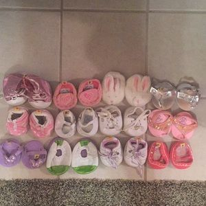 12 pair of BUILD-A-Bear shoes.  Good condition.